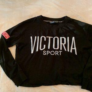 Victoria secret sport cropped Crewneck sweater